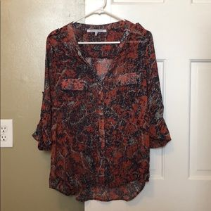 Stitch Fix Semi Sheer Button Blouse
